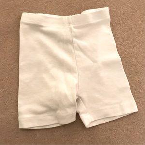 White bicycle shorts